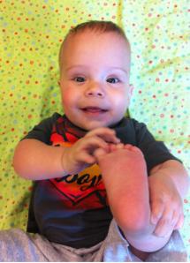 Look at my feet!