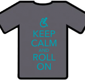 KEEP CALM AND ROLL ON Tshirt